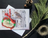 Karri Jamison Woodland HOLIDAY 7 GREETING CARD set, on paper 5x7 inches