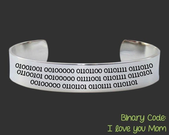 Mothers Day Gift | Mothers Day | Gift for Mom | Mother's Day Gift | Mother | Mom Gift | Personalized Jewelry | Binary Code | Korena Loves