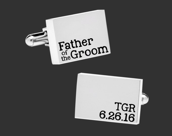 Father of the Groom | Wedding Gift | Dad Gift | Personalized Cuff Links | Father Gift | Father Gifts | Gift for Dad | Korena Loves
