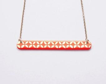 Necklace Little Engraved Flamingo