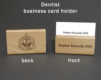PRIVATE LISTING - Dentist Personalized Wooden Business Card Holder