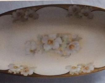 Vintage Austria hand painted platter signed