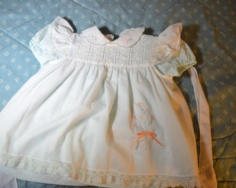 Beautiful Vintage Baby Dress in Two Pieces for Baby Size 18 Months by Nannette