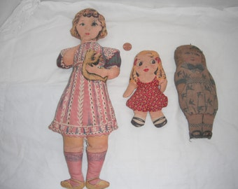 Antique cloth dolls