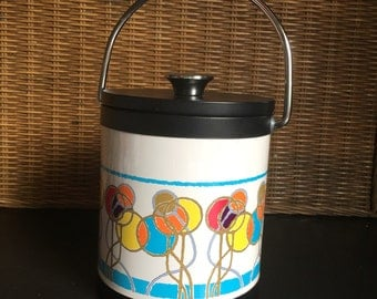Mod 70s Small and Colorful Ice Bucket