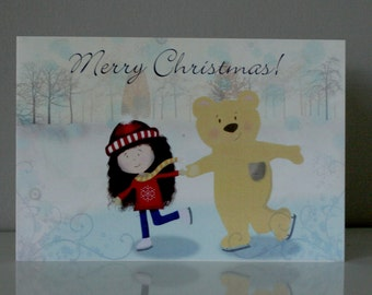 Merry Christmas -  Illustration Greeting Card