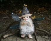 woodland fairy doll, clay doll, art doll,  posable doll, collectible fairy glass eyes magical fairy sale