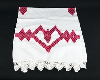 Crochet Heart Table Runner - Long Table Runner - Cottage Chic