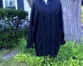 50% off: Vintage Flax Black Button Down