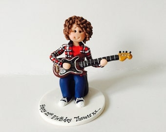 guitar player wedding cake topper guitar cake topper etsy uk 15015