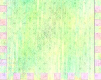 Digital Scrapbook Paper, Pale Green and Pink