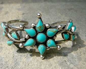Turquoise Bracelet, Turquoise Jewelry, Turquoise, Turquoise and Silver, Native American Jewelry, Native American Bracelet, Sterling Cuff