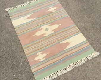 Pastel Southwest Print Cotton Rug