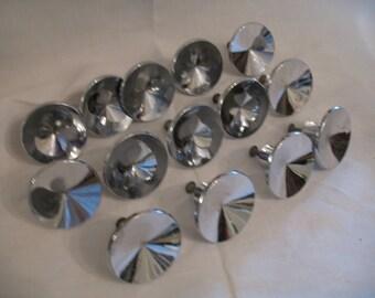 14 vintage chrome handles