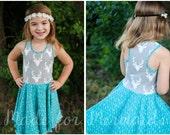 Riley Peplum Top and Dress PDF Sewing Pattern Sizes 1/2-14