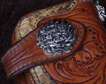 Roaring lion (tang dynastiy) bag buckle