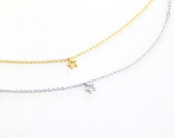 Star Bracelet, Tiny star bracelet, minimalist bracelet, dainty everyday jewelry