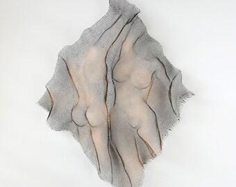 Sexy Nude torso sculpture, Metal wall art, home decor, metal art sculpture, 3d nude decor
