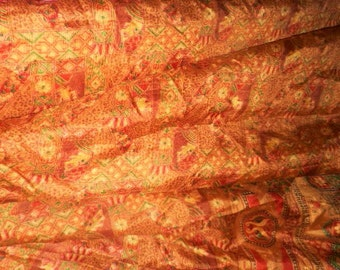 4 yards lndian silk sari fabric this is for 4 yards dress soft furnishing curtaining or for crafts beautiful hand dyed soft silk