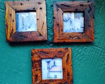 Rustic Wood Frame Trio!