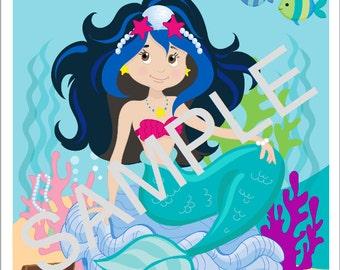 DYI Printable Pin the Sea Crown on the Mermaid Game