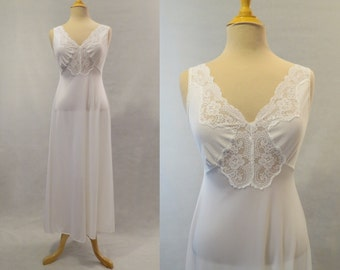 White Lace Trimmed Nightgown