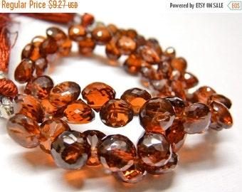 sale Red pyrope garnet gemstone briolette- faceted red garnet onion briolette- January birthstone- set of 6 Pcs- 5.5-7 mm No.197