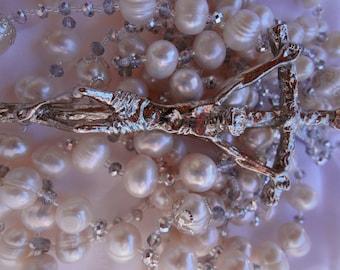Pearls and Swarovski Crystals Wedding Lazo/Lasso