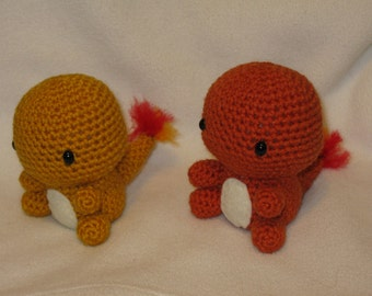 Chibi Charmander OR Shiny Charmander amigurumi plush