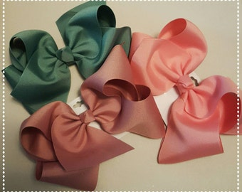 Extra Large hair bows-7 inch hair bow- large bow- boutique hair bows-hair bows for girls- little girl hair bows- hair bows-hair barrette-bow