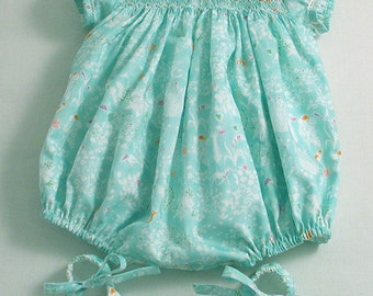 Liberty Yoshie Smocked Bubble and Shoes