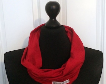 Jersey loop scarf red