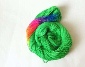 Shake ya tail feather! Rainbow Stripe Yarn