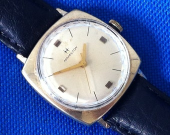 "Hamilton ""Boatswain III"" Men's Vintage Watch, 10K Rolled Gold Plate Case, Stainless Back, 17J Swiss 688 Mvt, Working Great, Free Shipping"