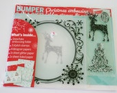 Christmas Embossing Folder and Clear Mount Rubber Stamp Set and Paper from Cardmaking