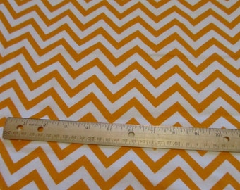 Orange/White Chevron Flannel Fabric by the Yard