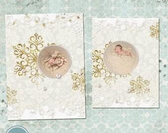 ON SALE Christmas Photo Card, Photoshop Christmas Card Template for Photographers 04