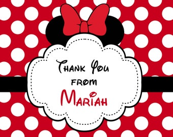 Minnie Ears Thank You Notes