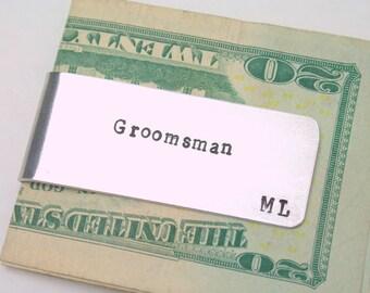 One money clip /  Groomsman gift / Best Man gift / Gift from groom / Groomsman money clip