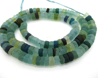 SALE  Genuine Ancient Roman Fragment Glass Rondelle beads Thousands years oldR