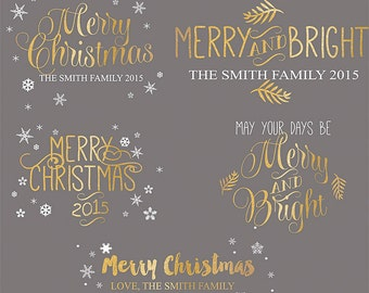 Christmas Photography Overlays, Handlettered Christmas Photo Overlays, INSTANT DOWNLOAD