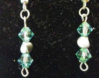Little Green Bean Dangle Earrings
