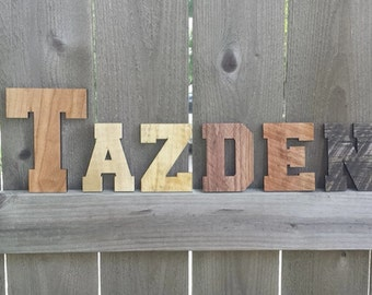 baby name pallet wood name nursery decor laser cut pallet letters reclaimed pallet wood rustic pallet name wooden letters