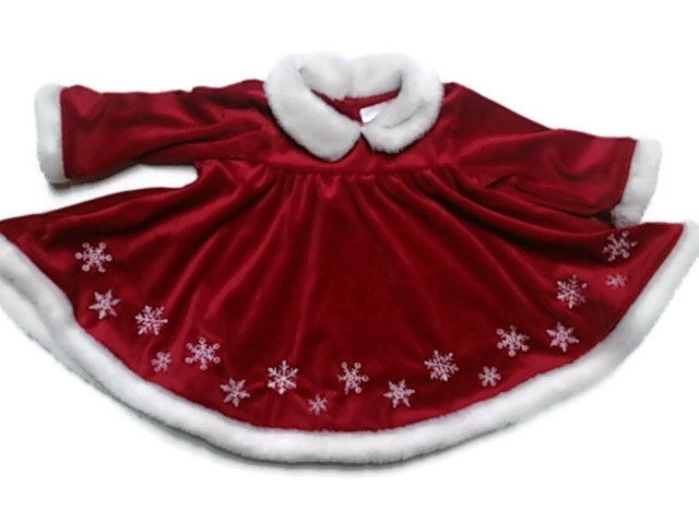 Baby girl red christmas dress 3 6 month gift for baby by raymels