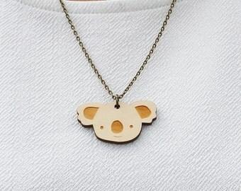 Laser Cut Wooden Koala Necklace
