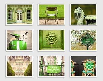 Set of ANY Nine Photography Prints - Paris Art Prints,Extra Large Wall Art,Photo Collection,Paris Art,Shabby Chic,Fine art photography