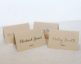 Kraft Place Cards, Rustic Wedding Place cards, Wedding Place Cards. Escort Cards, Kraft Paper Wedding Place cards