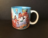 Vintage Mickey Mouse Disney Mug Through The Ages Blue Interior