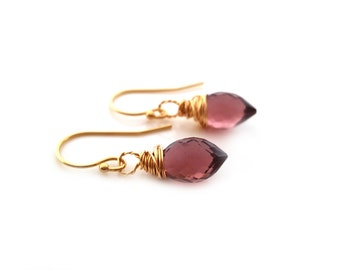 Kunzite Earrings - Purple Earrings - 14k Gold Filled Earrings - Drop Earrings - 14k Gold Filled - Gift for Her