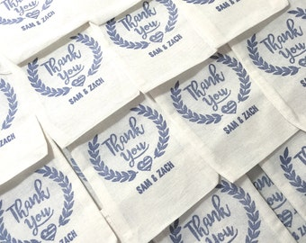 Custom Hand-Carved Thank You Rubber Stamp, Perfect for Wedding Favors, Holiday Parties, Weddings